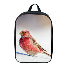 Hot Oxford 12 Inches Printing Animal Rosefinch Bird Baby Girls School Bags for Children Mini Backpacks Schoolbag Small Bookbag(China)
