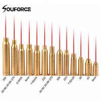 Red dot laser brass copper boresight CAL cartridge bore sighter for scope hunting adjustment