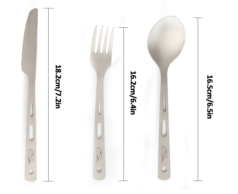 High Quality titanium tableware
