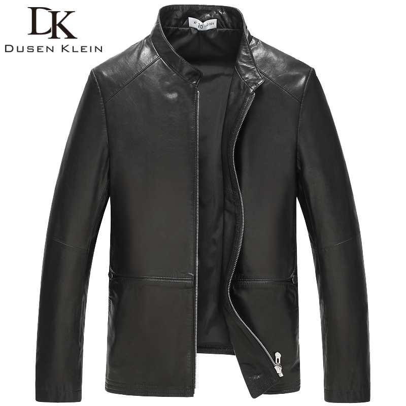 Dusen Klein 2106 Genuine Goat skin leather men's casual leather jacket Slim/Business style autumn 61J8669