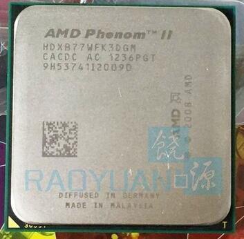 AMD Phenom II X3 B77 CPU Processor Triple-Core Desktop Socket AM3 938pin 3.2GHz 95W L3=6M HDXB77WFK3DGM