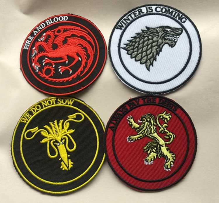 Game Of Thrones Figuur Speelgoed Geborduurde Huis Stark Targaryen Draken Naai Iron on Patch Game Of Thrones Kleding Stickers speelgoed
