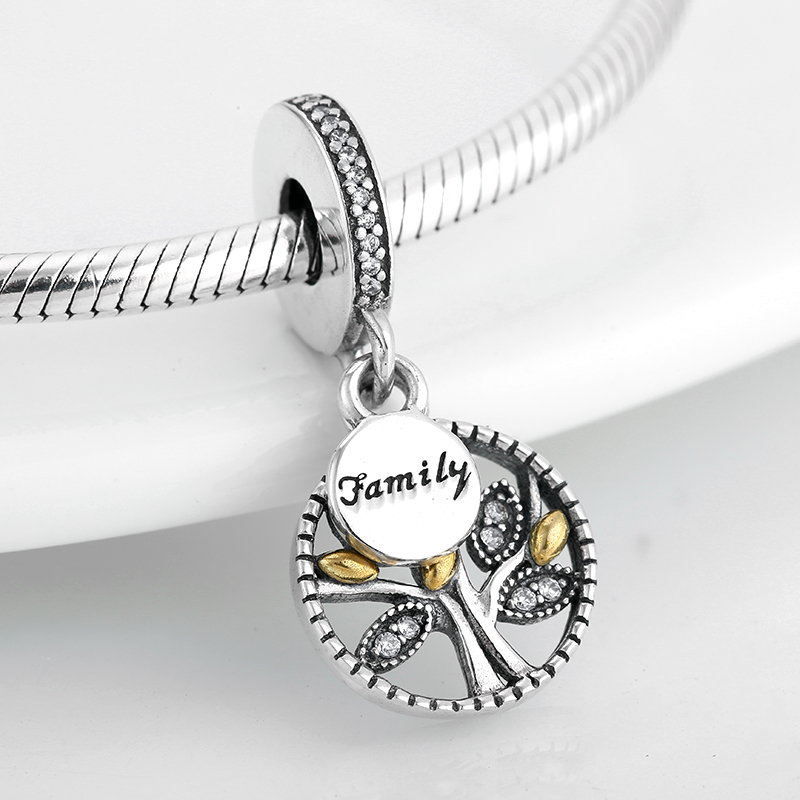 925 Sterling Silver Family Tree Of Life Charm