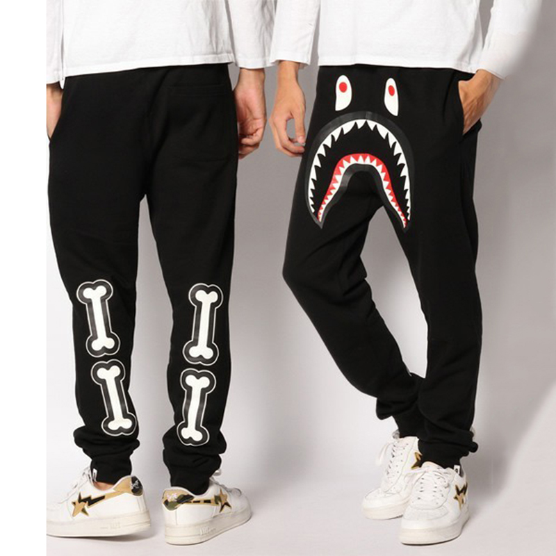 special for shoe professional sale hot new products brand bape shark mens harem pants hip hop pants trousers ...