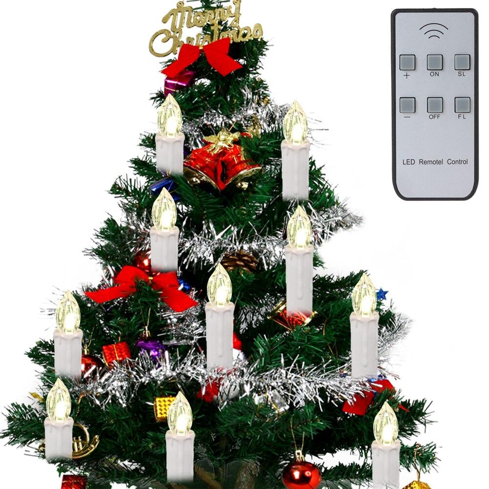 10 teile/satz Weihnachtsbaum LED Kerzen Led leuchten ...