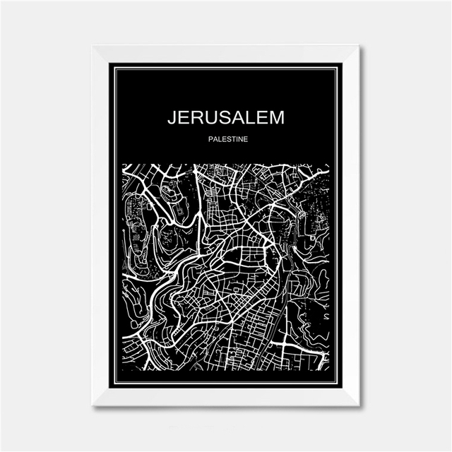 Jerusalem city world map poster abstract vintage paper print picture jerusalem city world map poster abstract vintage paper print picture bar cafe pub living room bedroom gumiabroncs Image collections