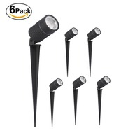 6pcs 5W 7W Waterproof 12V AC85 264V Yard Spot Tree Light Inground IP67 Outdoor Landscape Led