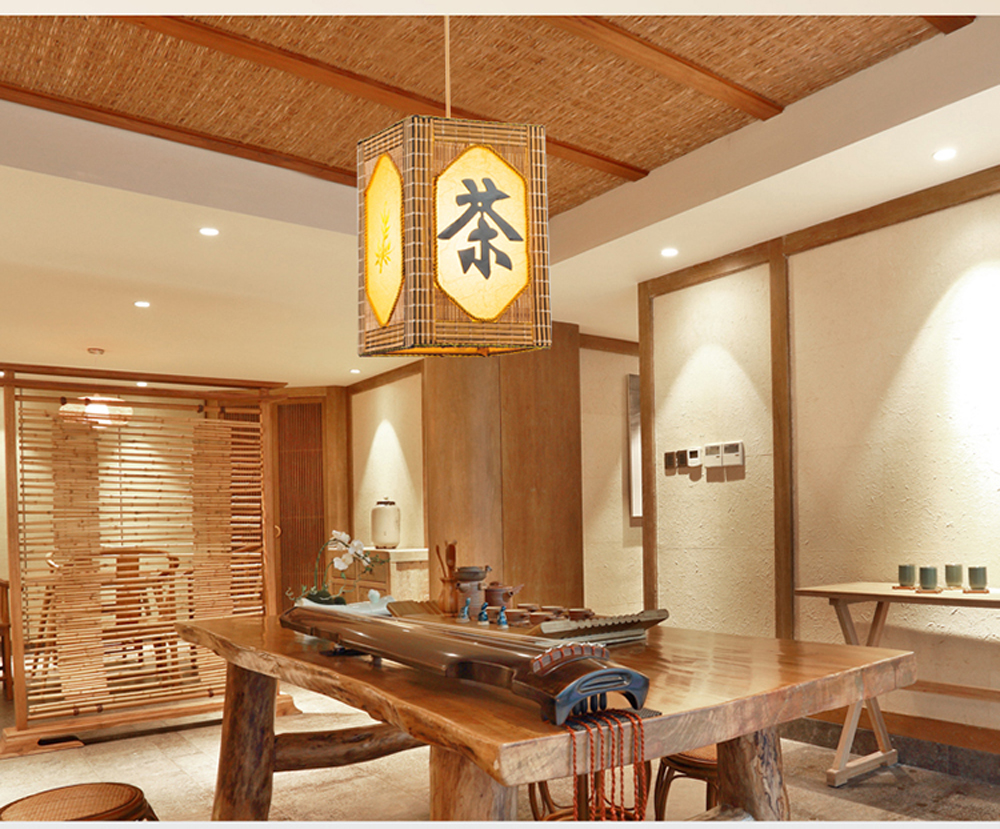 Japanese bamboo rattan chandelier chandelier bedroom balcony japanese bamboo rattan chandelier chandelier bedroom balcony restaurant in southeast asia chinese antique wooden lamp in pendant lights from lights aloadofball Image collections