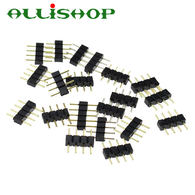 1000pcslot 4 pin led strip light male connector 4pin lighting 1000pcslot 4 pin led strip light male connector 4pin lighting accessories for 3528 5050 rgb rgbw rgbww led strips in connectors from home improvement on mozeypictures Choice Image