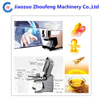 Mini household cold hot press oil machine peanut sesame coconut seed oil extractor expeller screw oil press filter machine price