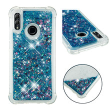 Shining quicksand TPU anti-fall Love Heart phone case is suitable for Huawei Honor 10 Lite
