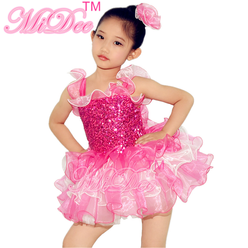 Buy Cheap Lovely Ballet Dance Dress Sequin Leotard Ballerina Tutu Dance Dress Girls Party And Wedding Flower Girls Dresses