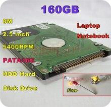 2.5 «HDD PATA IDE 160 ГБ 160 г IDE 5400 об./мин. 8 м внутренний жесткий диск ноутбук бесплатная доставка Отвертка Бесплатная