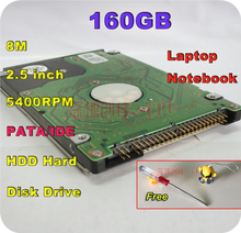 2.5″ HDD PATA IDE 160GB 160g ide 5400RPM 8M Internal Hard Disk Drive laptop notebook Free Shipping screw driver free