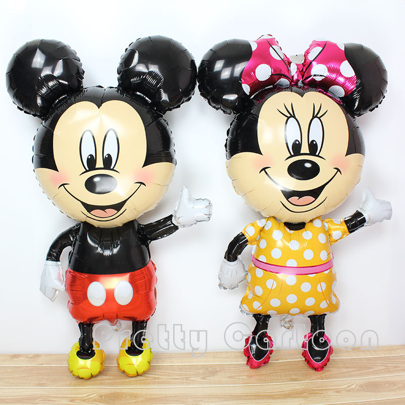 Large 46inch mickey balloons Minnie Mouse Airwalker Foil Balloon Mickey Mouse balloon minnie mouse&mickey mouse party supplies