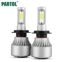 2x Plug Play COB H7 LED Headlight 72W 8000LM All In One Car LED Headlights Bulb