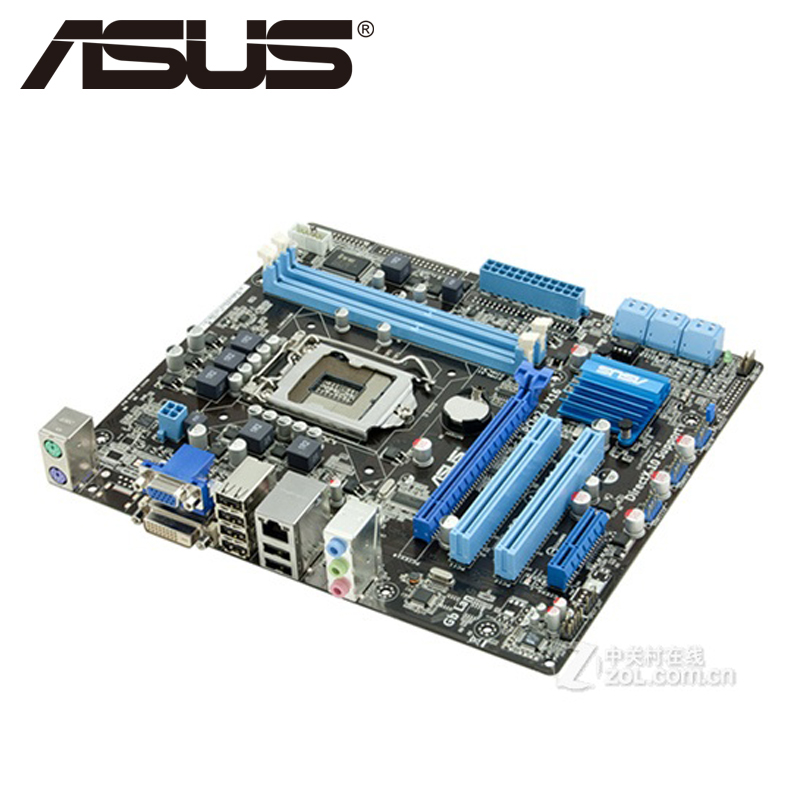Asus P7H55-M PLUS Desktop Motherboard H55 Socket LGA 1156 i3 i5 i7 DDR3 16G u ATX UEFI BIOS Original Used Mainboard On Sale gigabyte ga z77p d3 desktop motherboard z77 socket lga 1155 i3 i5 i7 ddr3 32g atx uefi bios original z77p d3 used mainboard