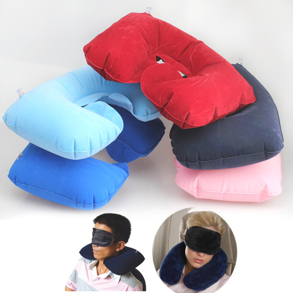 Random Inflatable Pillow For Travel Essential Multifunction Inflatable Pillow Patch Earplug New Braces and Supports H7JP