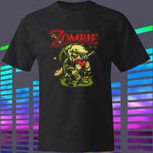 New THE LEGEND OF ZELDA ZOMBIE Funny Style Men's Black T-Shirt Size S To 2XL Casual Plus Size T Shirts Hip Hop Style Tops Tee
