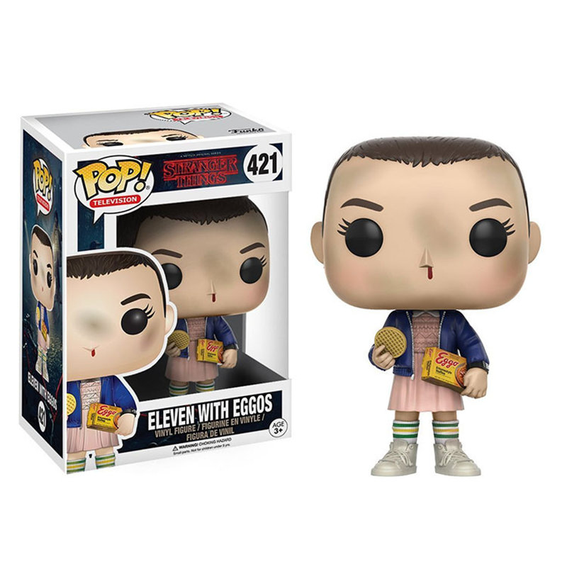 Funko POP Stranger Things & Little Eleven With Eggos PVC Action Figure Boy Toys For Chlidren Birthday Gift