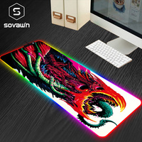 80x30cm XL Gaming Mouse Pad Large USB RGB Mousepad Mat with Backlight Gamer cs go Hyper Beast Rubber Mouse pad For PC Computer