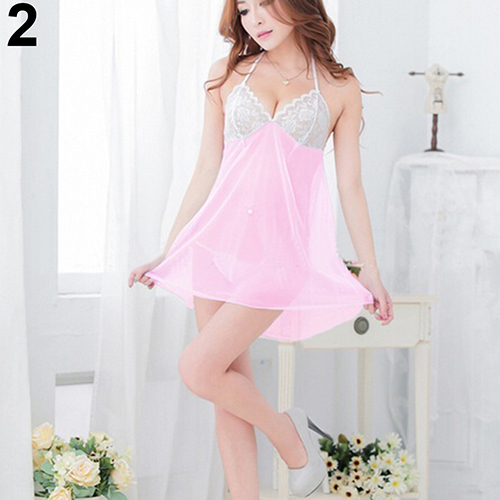 Women Sexy Low Cut See Through Sleepwear Underwear  G -2404