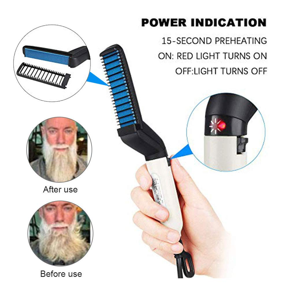 men Beard Hair Straightener Brush (6)