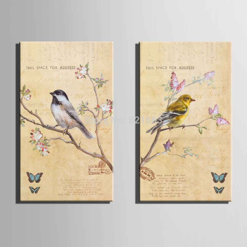 Colorful Flying Birds Wall Decor Gift - Wall Art Collections ...