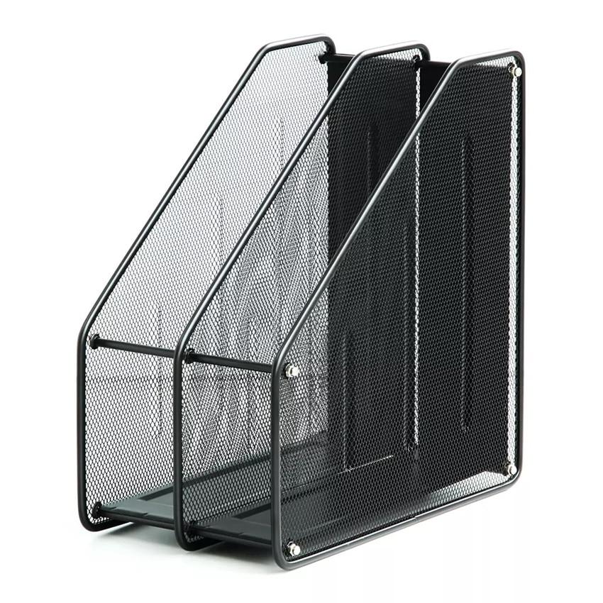 Wholesale 2 Unites Metal Black A4 File Documents Paper Storage Trays Shelf Racks For Office Or School On Desktop 30pcs/lot
