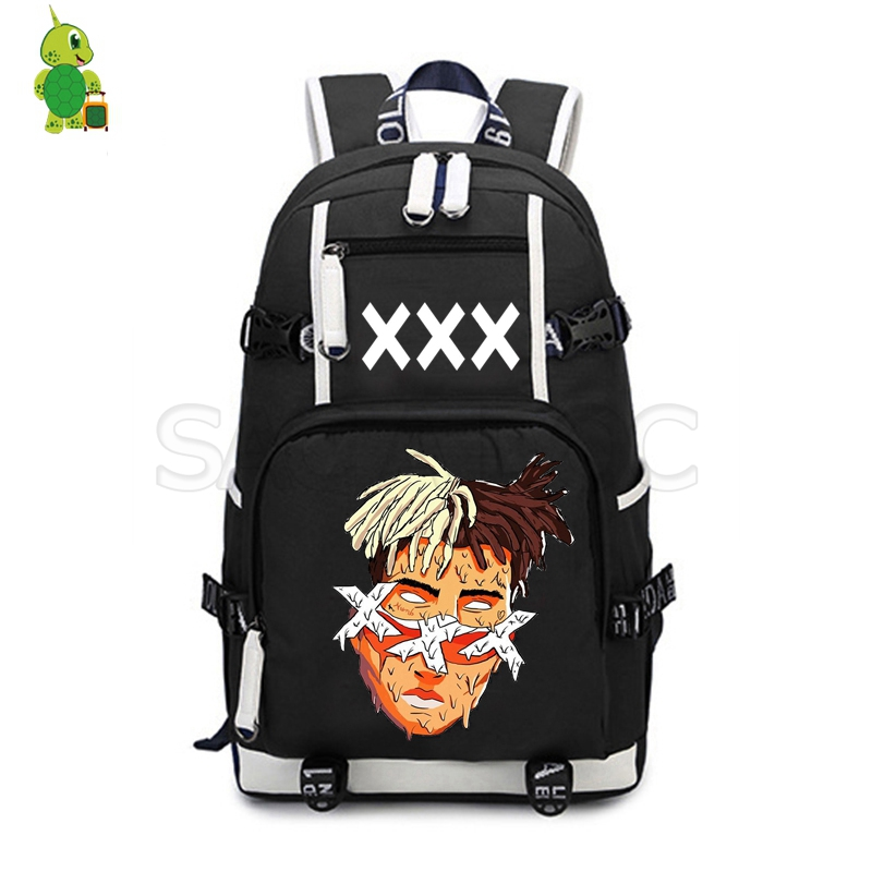 Hip Hop Xxxtentacion School Bag Women Men Canvas Backpack Laptop Backpack For Teenagers Students Large Capacity Travel Bags
