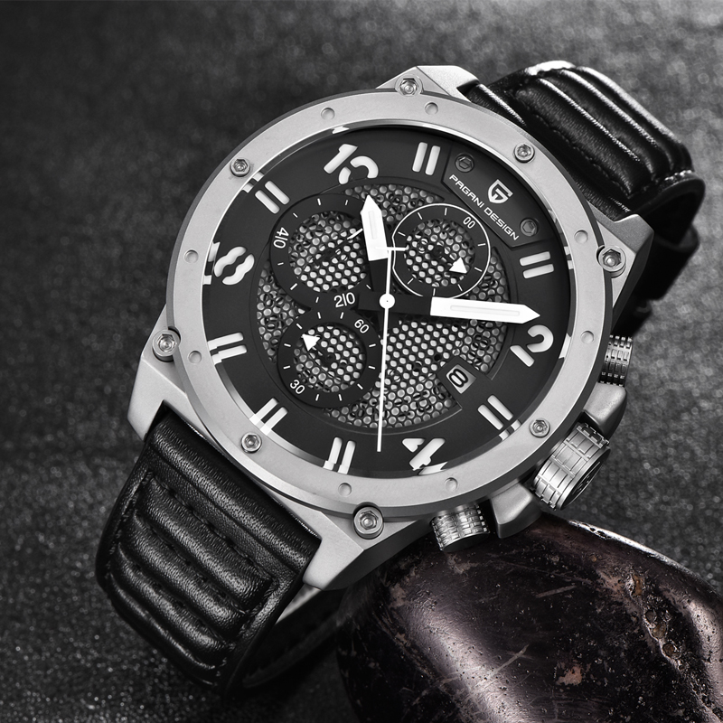 PAGANI DESIGN Military Wistwatch Chronograph Sports Watches Men Leather Quartz Watch Luxury Brand Waterproof Relogio Masculino luxury brand pagani design waterproof quartz watch army military leather watch clock sports men s watches relogios masculino