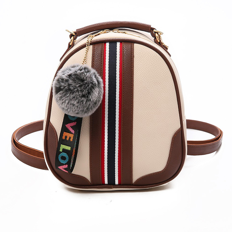 New Girl Stripe Purse Phone BagLittle Casual Leather Handle bags Shoulder Daypack Zipper Bags Travalling School Multi-use Ba