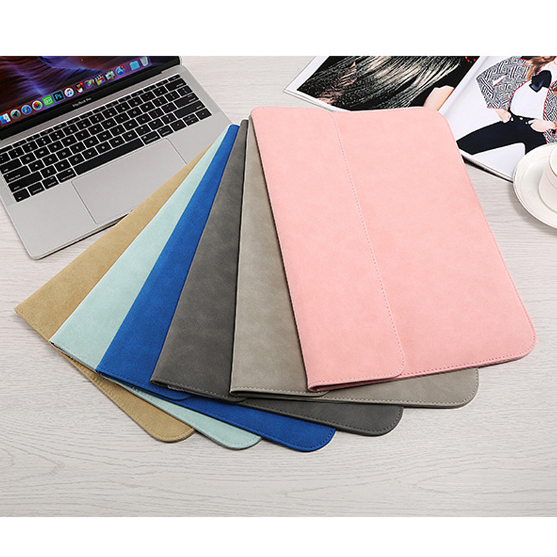 Image 5 - Matte Laptop Sleeve Bag For Macbook Air 13 A1932 11 12 15.4 New Pro 15 Touch Bar Notebook Case For Xiaomi 13.3 15.6 Scrub Cover-in Laptop Bags & Cases from Computer & Office