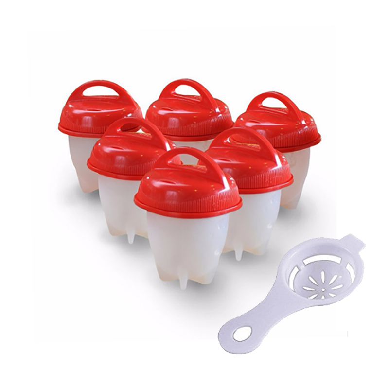 Egg Cooker Set Hard Boiled without shel 6 Pack with Separator