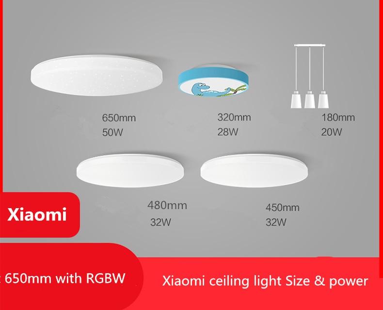 HTB1WyJeXGLN8KJjSZFKq6z7NVXaN Mijia Yeelight Ceiling Light Pro 450/480/650mm Remote APP WIFI Bluetooth Control Smart LED Color IP60 Dustproof Ceiling Lamp