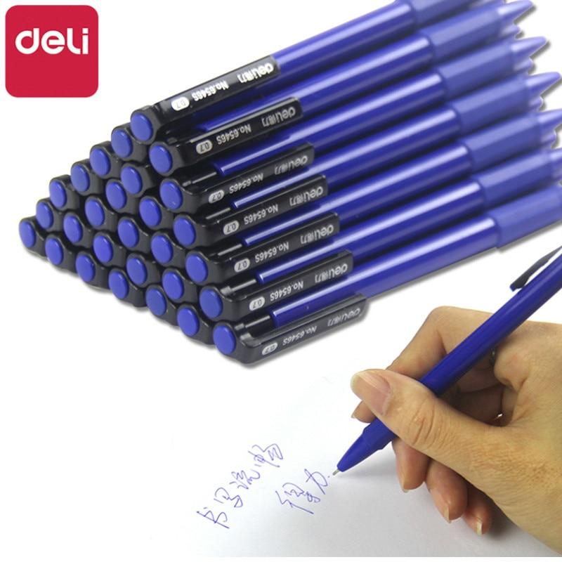 Deli 36pcs Ballpoint Pens Student Ball Point Pen 0.7mm Telescopic Pens Office Business Student Stationery Office School Supplies