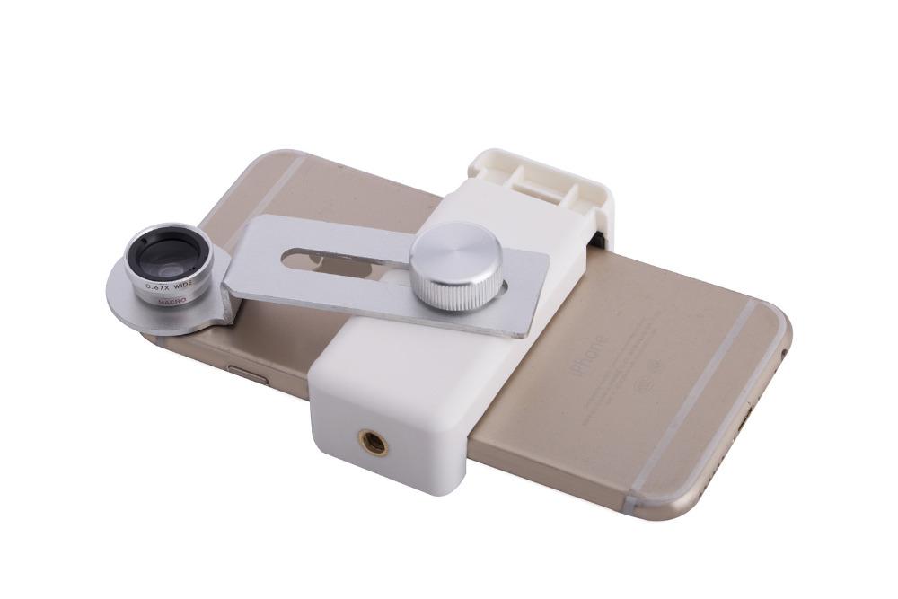 Zoom Optical Lens 4 in 1 Mobile Phone Telescope 9X Telephoto fish eye wide angle macro camera lens for iphone7 6 5 huawei lenovo 13