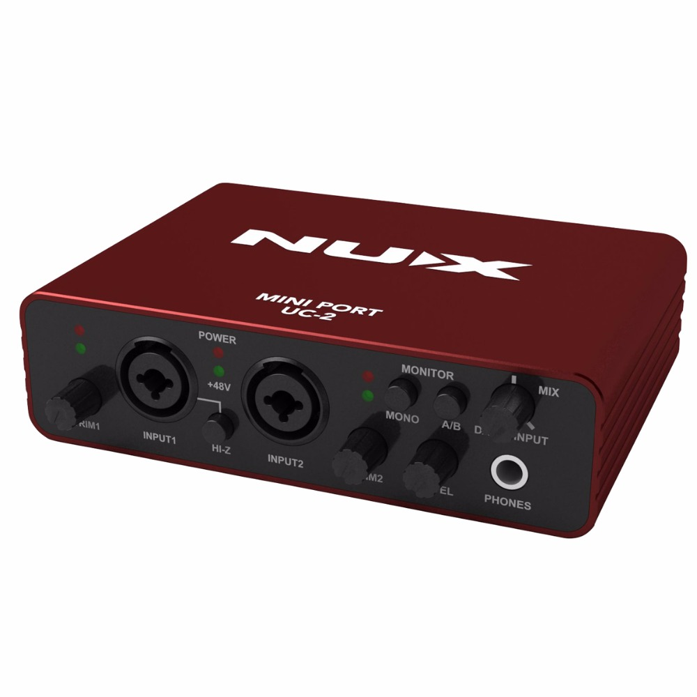 nux uc 2 mini port usb guitar audio interface xlr audio interface for mic midi instrument. Black Bedroom Furniture Sets. Home Design Ideas