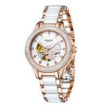 Gift ladies watch fashion automatic mechanical watch female steel waterproof watch Crystal Sapphire Ladies watch