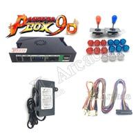 2Player DIY Arcade Console Kit Pandora box 9D 2222 in 1 game board 5Pin joystick No LED Copy SANWA Clear Push Button for Machine
