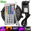 RiRiwon SMD RGB LED Strip Light 5050 4M 8M 10m 5m 30Leds/m led Tape Waterproof diode ribbon 44K Controller DC 12V adapter set