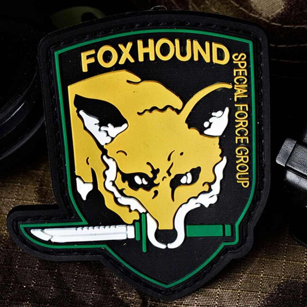 FOXHOUND FOX HOUND patch specjalne siły grupy pcv 3D z gumy metalowej sprzęt wojskowy pcv odznaki na plecak kurtka
