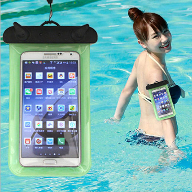 Universal Waterproof Phone Bag Case Cover Mobile Phone Pouch For Sony Ericsson X12 LT15i Xperia Arc S LT18i Underwater Swim Bag