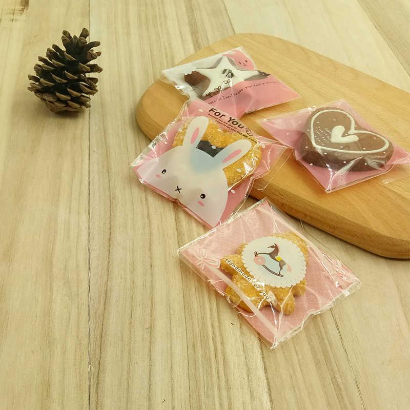 10 шт. 10x10 см конфеты, печенье сумки с прозрачные пакеты пластиковый подарочный мешок свадьба домашняя еда для вечеринки упаковка дети День Рождения мультфильм