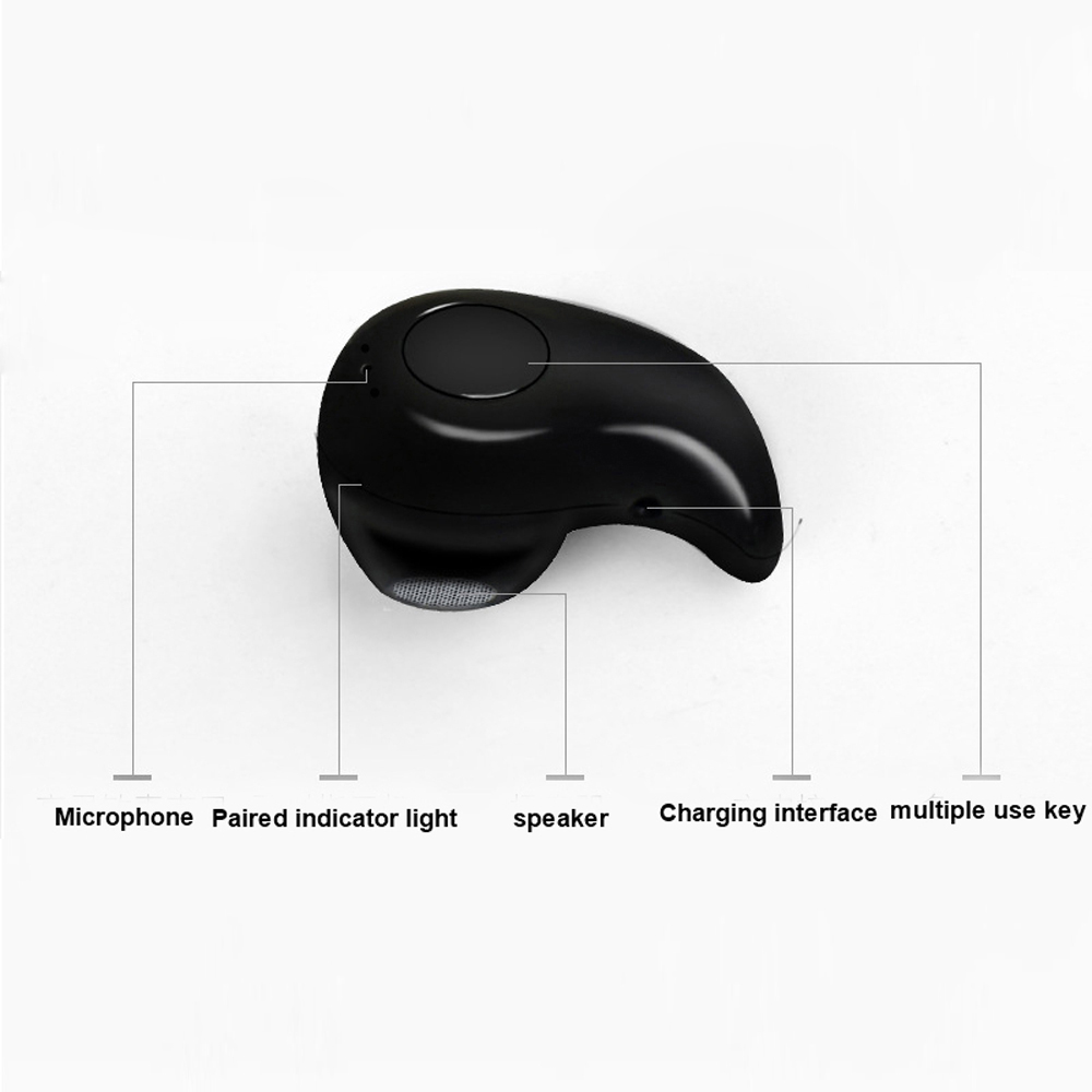 Mini S530 Wireless Bluetooth Earphone Stereo Headset with MIC Bluetooth Headphone black 2