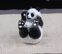 Panda Trinket Box With Crystals Panda Pewter Hinged Ring Trinket Box Gorgeous Panda Bear Jewelry Box Wildlife Animals