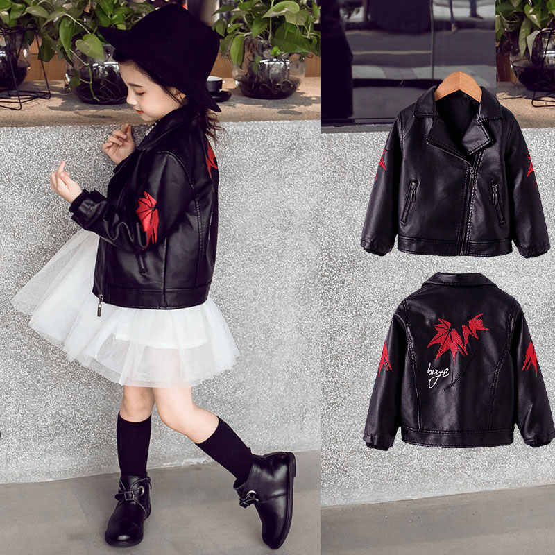 d51515dea Detail Feedback Questions about Fashion Kids PU Leather Jacket Black ...