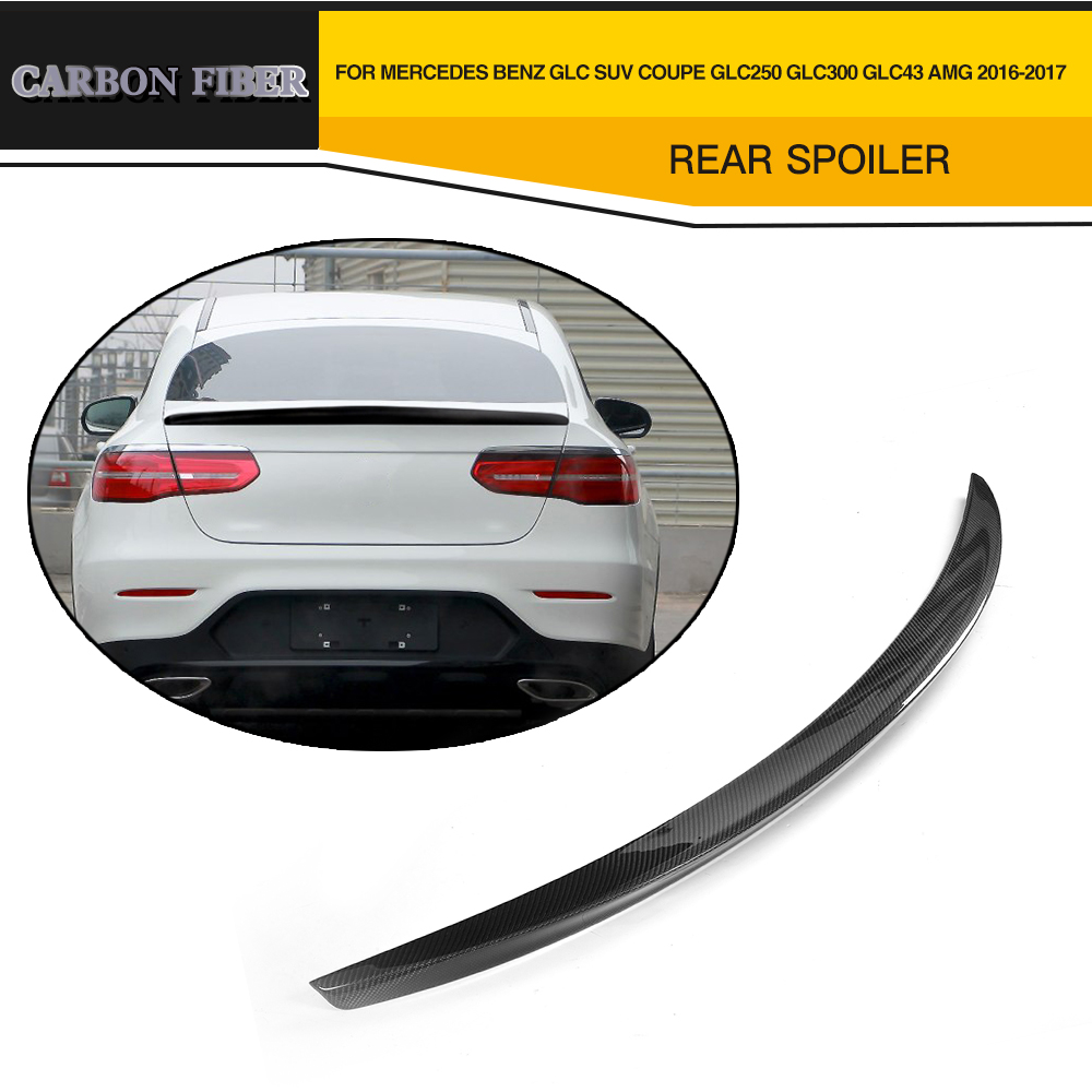 For Mercedes Benz Glc Class Coupe Glc300 Glc250 Spoiler: Car Styling Carbon Fiber Rear Wing Boot Lip Spoiler For