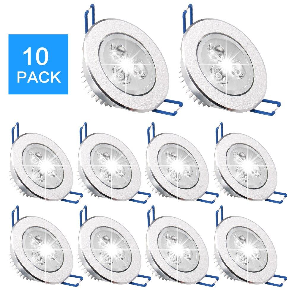 10 pièces Downlights Projecteur 9W 12W 15W 220V 110V LED Plafonnier LED Lumière Lampe D'intérieur lumière LED Ampoule D'éclairage