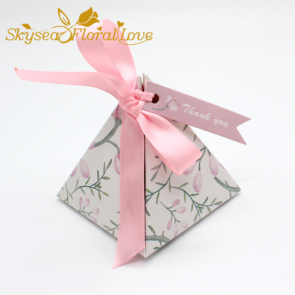 High Quality candy box for birthday baby shower baptism Thick Ribbon ...